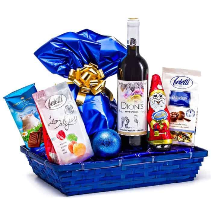 Coș cadou 18CB9 Blue Christmas