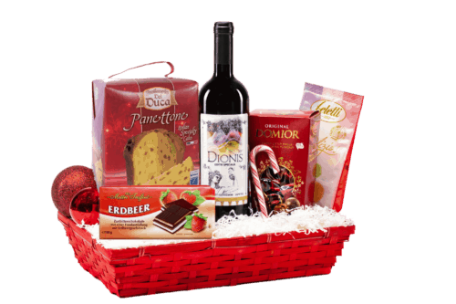 Coș cadou Happy Christmas - 19CB18