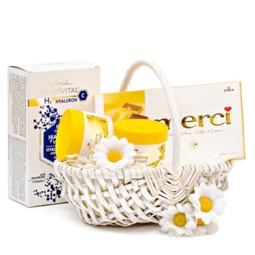 Coș cadou Yellow Spring - 20CM16