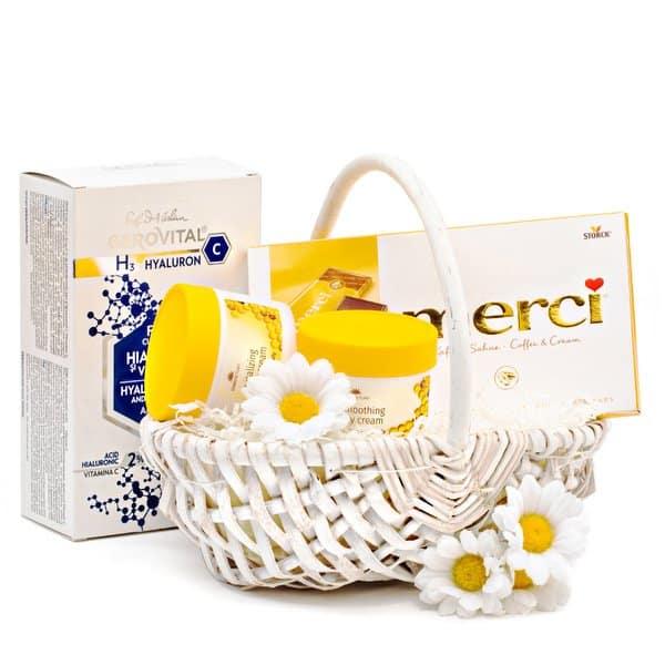 Coș cadou Yellow Spring - 19CM2