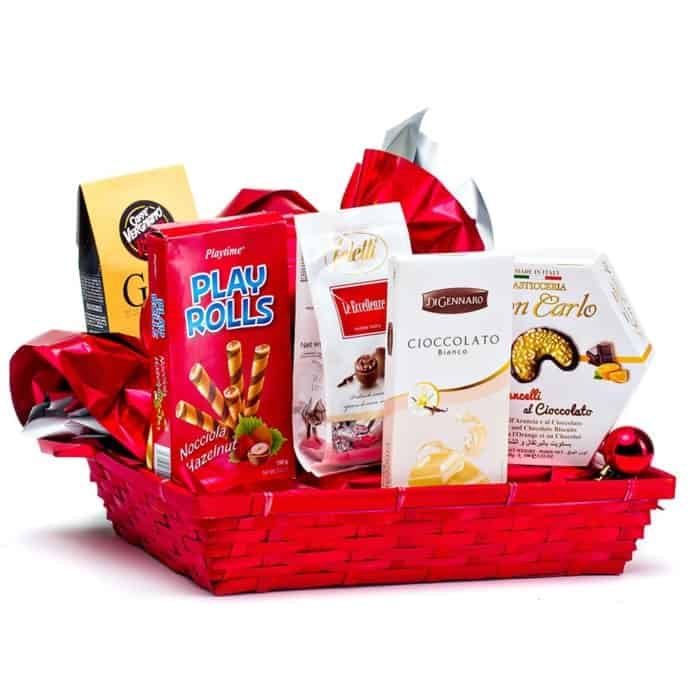 Coș cadou 19PB10 – Red Gift