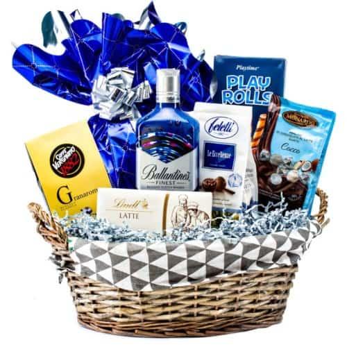 Coș cadou 19PB31 – Blue Gift
