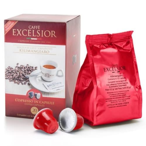 Capsule cafea Excelsior– Kilimangiaro, Compatibile Nespresso, 20 capsule, 104g