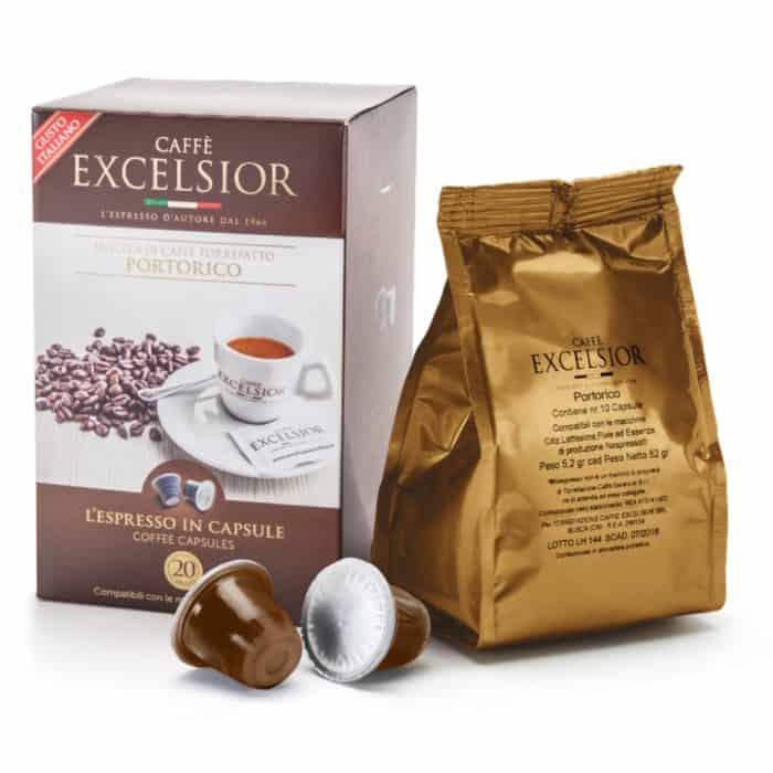 Capsule cafea Excelsior – Portorico, Compatibile Nespresso, 20 capsule, 104g