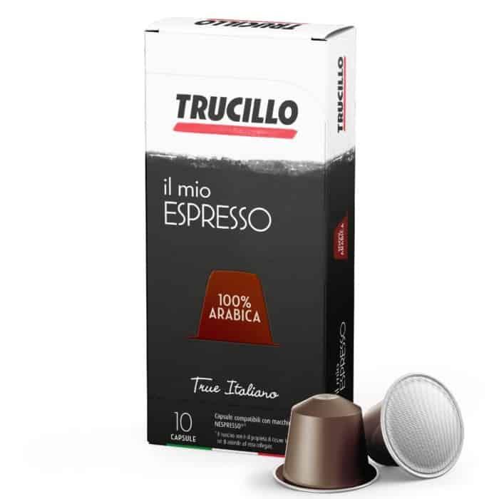 Capsule cafea Trucillo – Il Mio Espresso 100% Arabica, Compatibile Nespresso, 10 capsule, 55g
