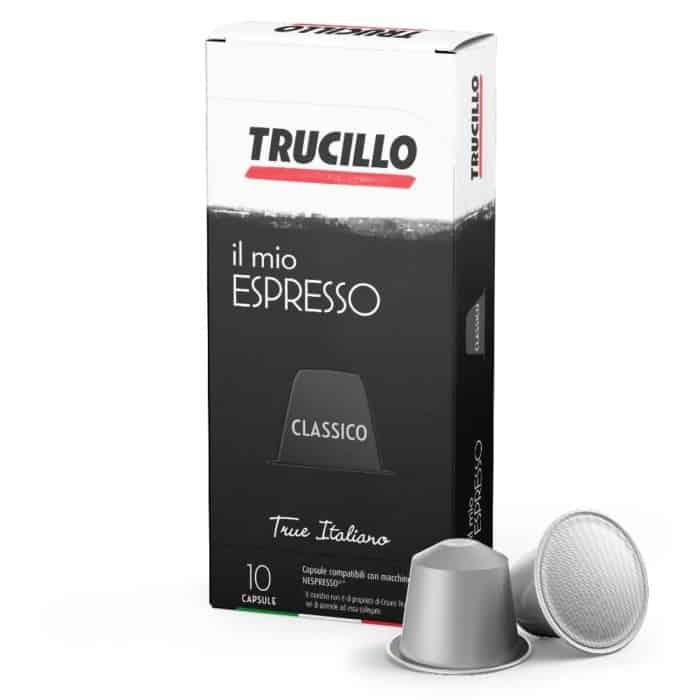 Capsule cafea Trucillo – Il Mio Espresso Classico, Compatibile Nespresso, 10 capsule, 55g